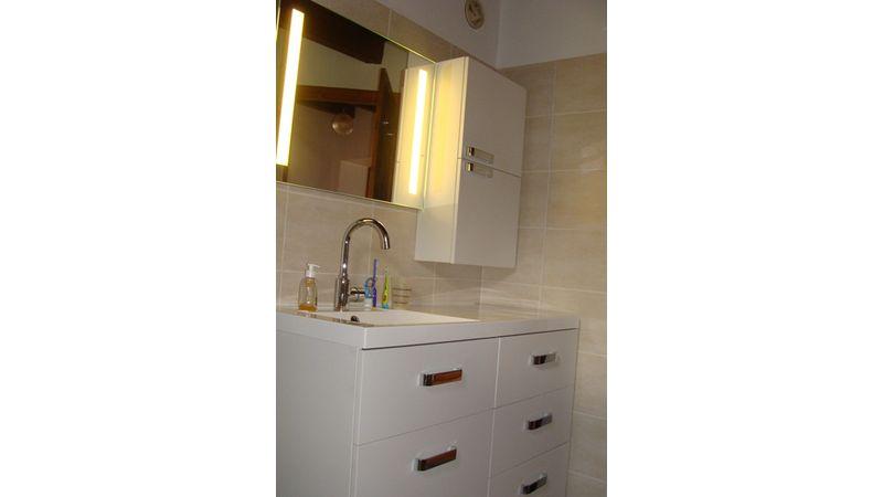 Rénovation d'une salle de bain à Beaucroissant