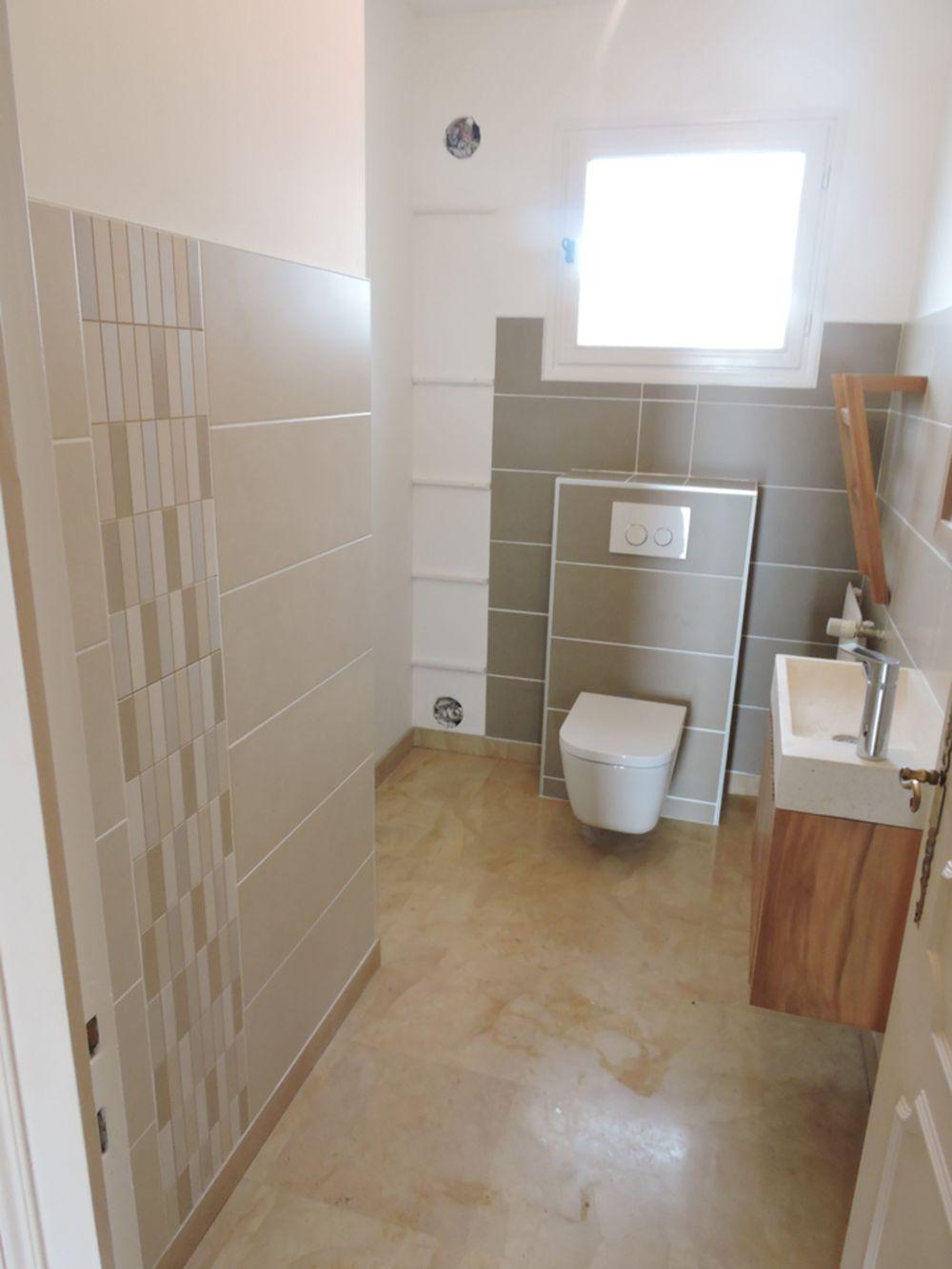 Rénovation de toilettes sur Rives - A Demeure Services - Izeaux 38